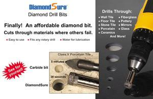 Diamond Sure Ceramic Tile Drill Bit - 1-2 inch