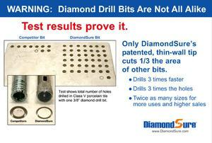 Diamond Sure Ceramic Tile Drill Bit - 2 inch