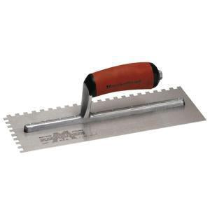 Marshalltown Notched Dura Soft Handle Trowel 16 x 4-1-2 Blade 709SD Long