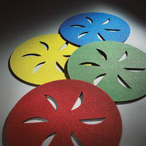 Norton 21818 Sand Dollar Floor Surface Prep Pads 16 Inch Diameter Medium-Red Grit Per 4