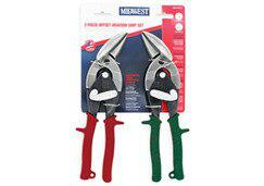 Midwest Snips MWT-6510C Offset - Forged Aviation Snip - Two Piece Set