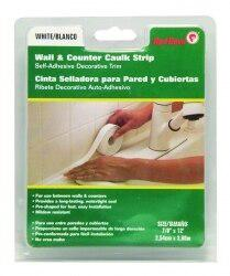 Red Devil 0155 Caulk strip Wall & Counter White 7-8 -inch by 12-feet