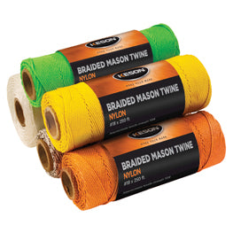 Keson BWB1000 Black & White Braided Nylon #18 X 1000 Ft. Twine