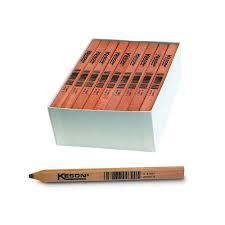 Keson LP72 White Carpenter Pencils With Black Lead Box of 72