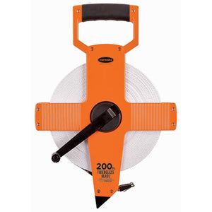 Keson OTR10200 200 Ft. Ft, 1-10, 1-100 Fiberglass Tape Measure With Hook