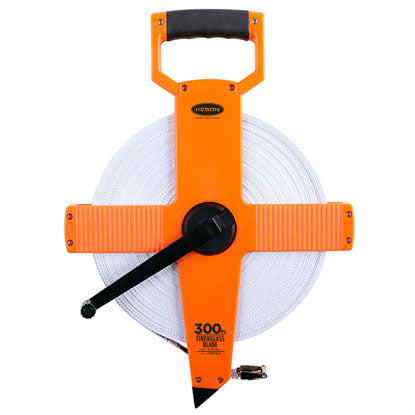 Keson OTR18M300 300 Ft. Ft, In, 1-8 & 100M Fiberglass Tape Measure With Hook