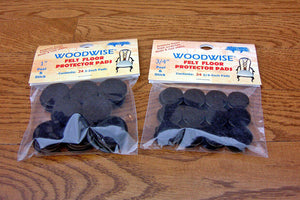 "Woodwise Felt Floor Protector Pads 3-4"" Brown Peel & Stick 48 Per Package"