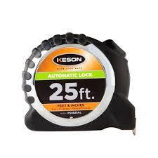 Keson PG10M25AL 25' x 1 inch Measuring Tape FT., 1-10, 1-100 & CM, MM Autolock