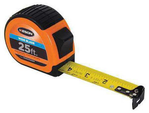 Keson PG181025WIDEV 25' x 1-3-16 inch Measuring Tape FT., 1-10, 1-100 & FT., 1-8, 1-16 Wide Blade