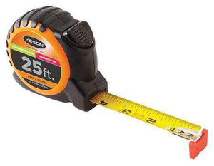Keson PG1825ALVMAG 25' x 1 inch Measuring Tape FT, 1-8, 1-16 Magnetic Tip