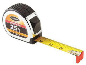 Keson PG1825MAG 25' x 1 inch Measuring Tape FT, 1-8, 1-16 Auto Lock Tape Magnetic Tip