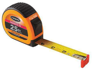 Keson PG1825VMAG 25' x 1 inch Measuring Tape FT, 1-8, 1-16 Auto Lock Tape Magnetic Tip