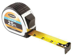 Keson PG1825WIDE 25' x 1-3-16 inch Measuring Tape FT, 1-8, 1-16 Wide Blade