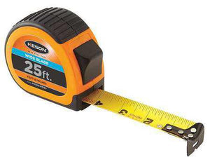 Keson PG1825WIDEV 25' x 1-3-16 inch Measuring Tape  FT, 1-8, 1-16 Wide Blade