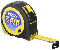 Keson PG7.5M 7.5M x 1 inch Measuring Tape M, CM, MM Economy