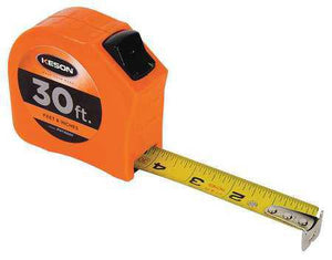 Keson PGT1830V 30' x 1 inch Measuring Tape  FT, 1-8, 1-16