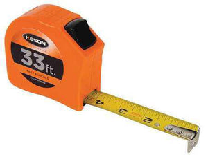 Keson PGT1833V 33' x 1 inch Measuring Tape FT, 1-8, 1-16