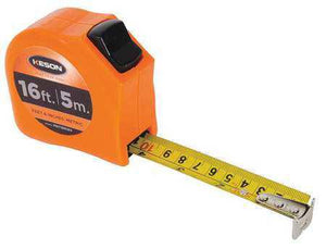 Keson PGT18M16V 16' x 1 inch Measuring Tape FT, 1-8, 1-16 & CM & MM