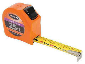 Keson PGTFD25V 25' x 1 inch Measuring Tape FT, 1-8, 1-16 & Fractional Decimal