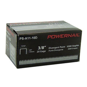 "Powernail A11-10D 3-8"" Divergent Point Staples (5,000-box )"