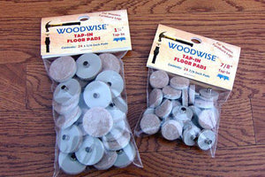 "Woodwise FLT57824 Felt Floor Protector Pads 7-8"" Beige Tap-Ins 24 per pack"