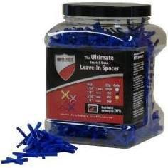 RTC Products SPC116JAR 1000 Piece 0.06 in. Ultimate X Leave in Tile Spacer