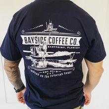 Load image into Gallery viewer, Bayside Coffee Co T Shirt (navy)