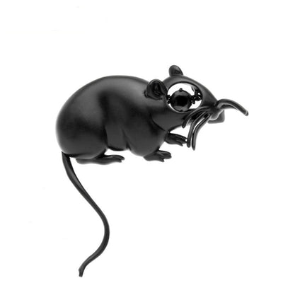 Black Mouse Brooch | Brooch Paradise