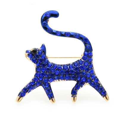 Blue Cat Brooch | Brooch Paradise