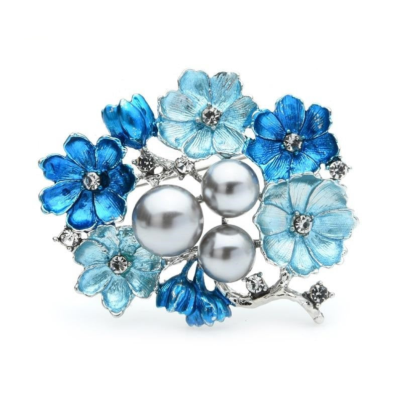 Blue Wedding Brooch | Brooch Paradise