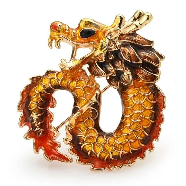 Brooch Dragon <br>Red Color