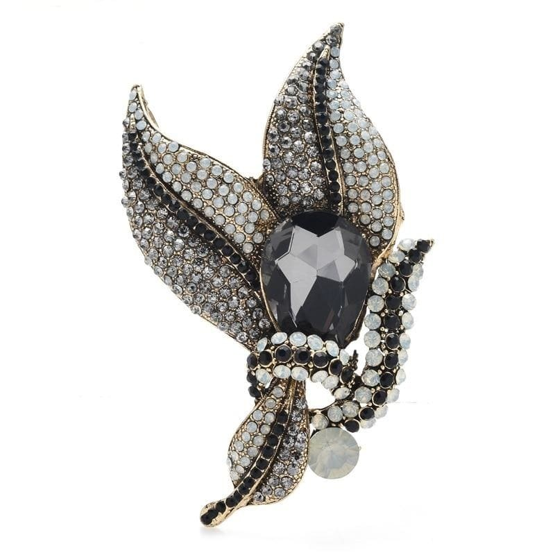 Brooch Flower - Black Color | Brooch Paradise
