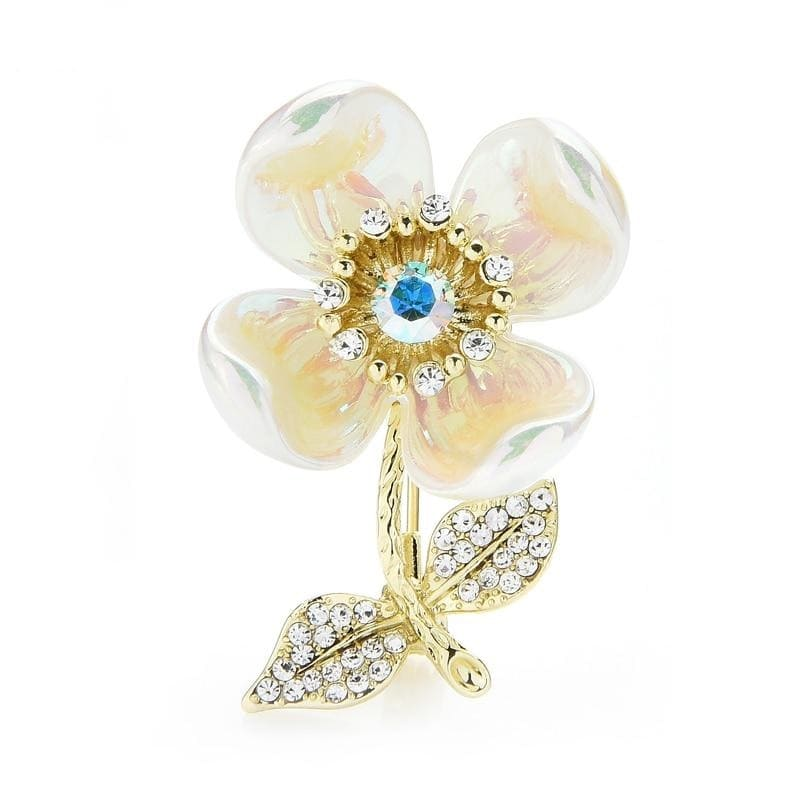 Brooch Flower - White Color | Brooch Paradise