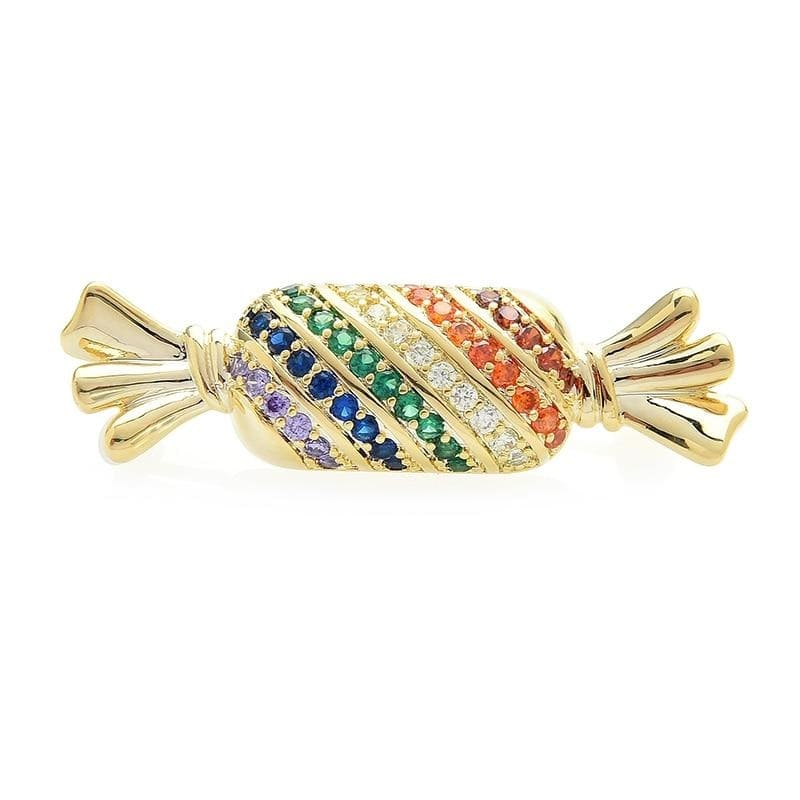 Candy Brooch - Gold Color | Brooch Paradise