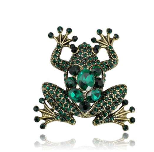 Frog Brooch - Green Color | Brooch Paradise