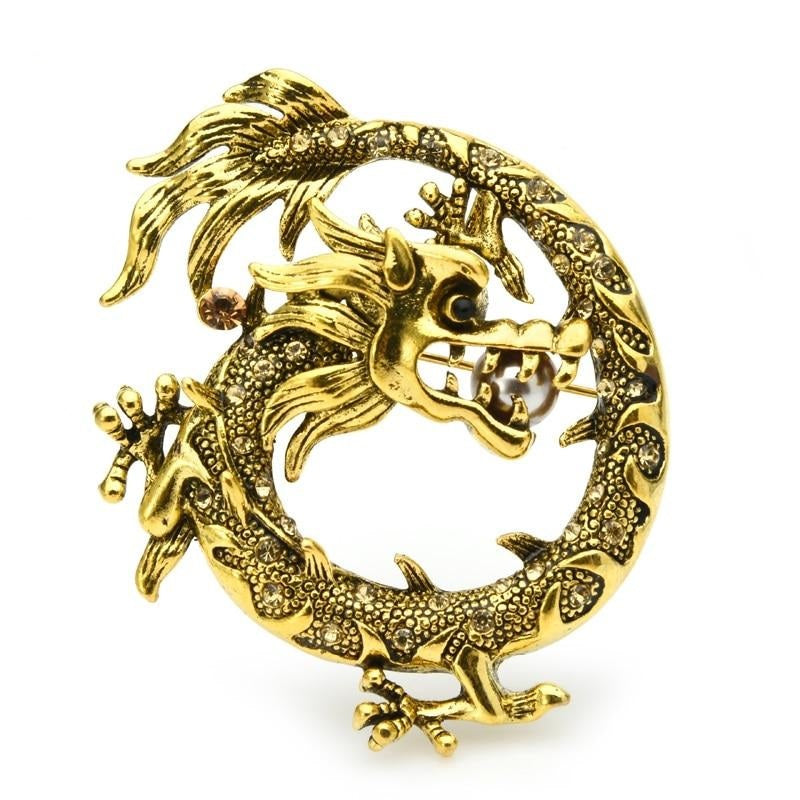 Gold Dragon Brooch | Brooch Paradise