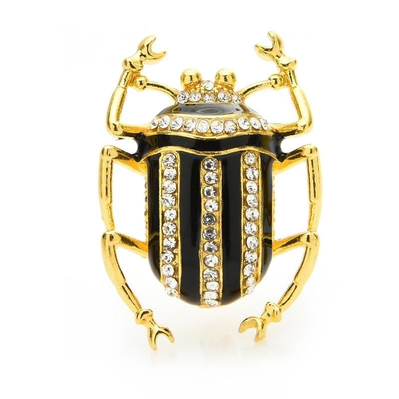 Gold Scarab Beetle Brooch
