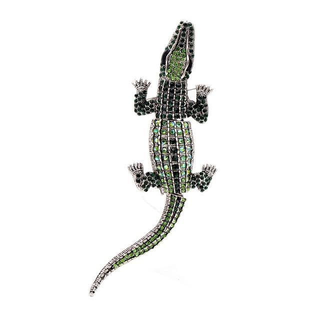 Green Crocodile Brooch | Brooch Paradise