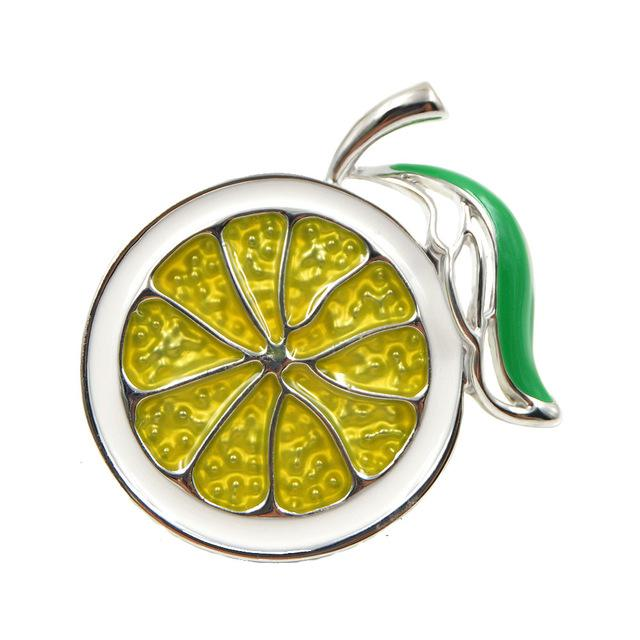 Lemon Brooch - Silver Color | Brooch Paradise
