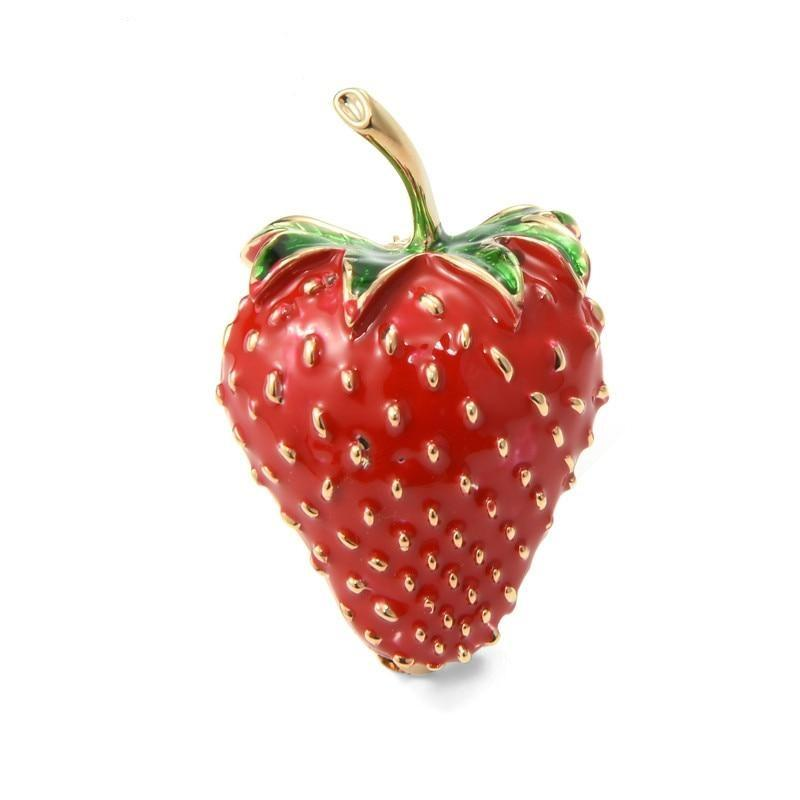 Lovely Strawberry Brooch | Brooch Paradise