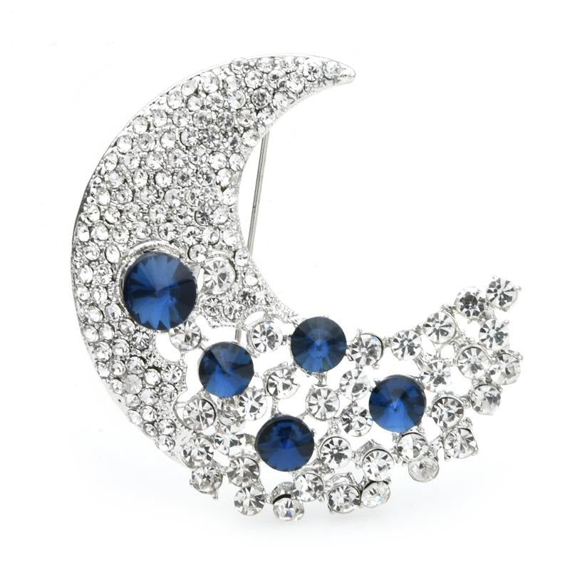 Moon Brooch - White Color | Brooch Paradise