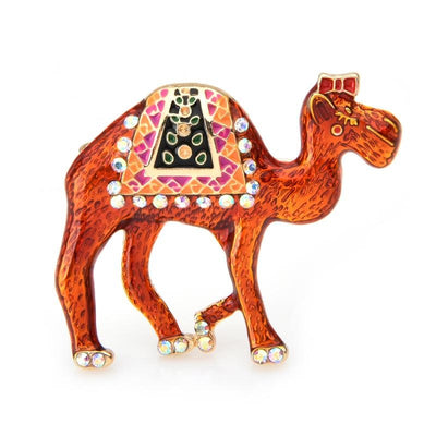 Orange Camel Brooch | Brooch Paradise