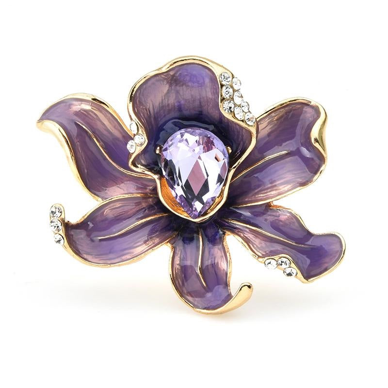 Purple Flower Brooch | Brooch Paradise
