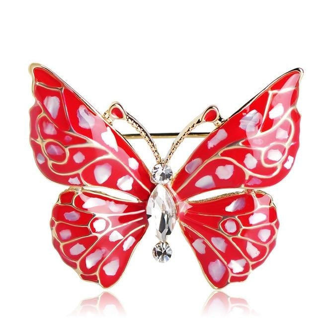 Red Fashion Butterfly Brooch | Brooch Paradise