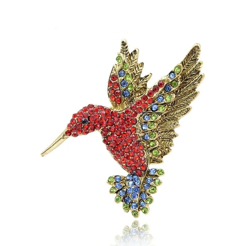 Red Hummingbird Brooch | Brooch Paradise