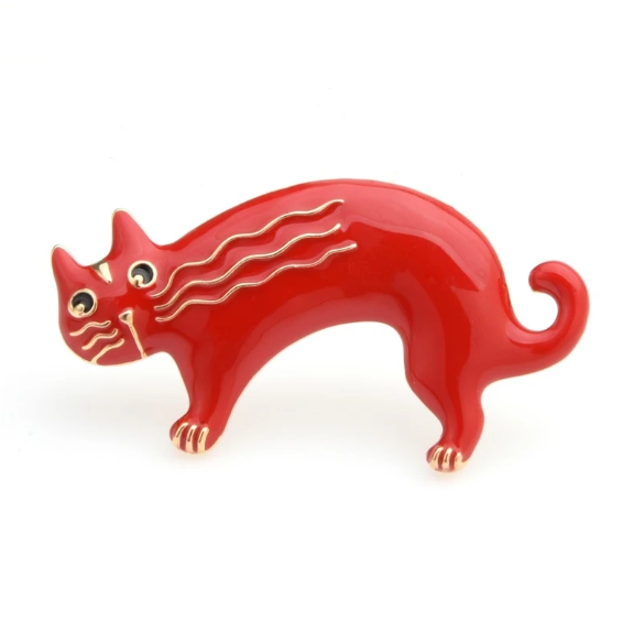 Red Cat Brooch | Brooch Paradise