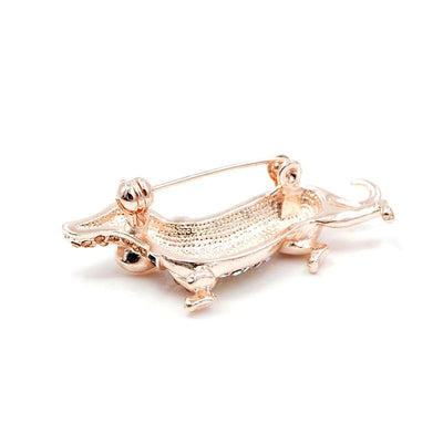Sausage Dog Brooch - Champagne Color | Brooch Paradise