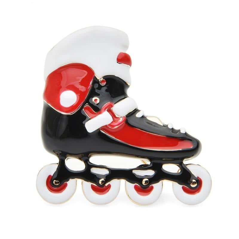 Shoes Brooch - Red Roller Skate | Brooch Paradise