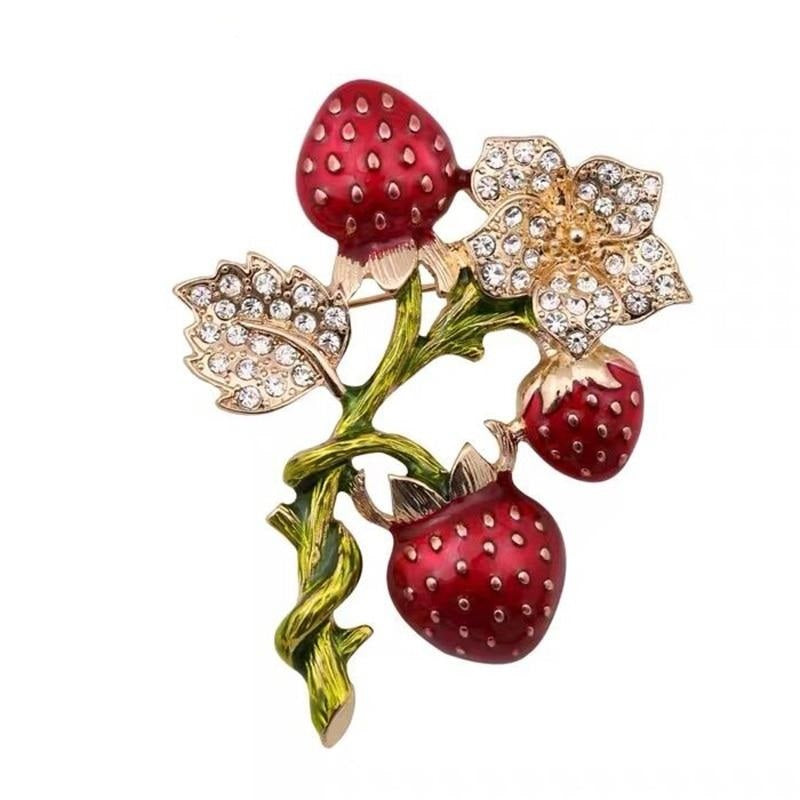 Strawberry Bunch Brooch | Brooch Paradise
