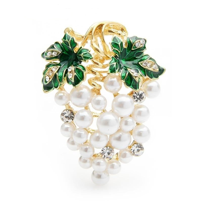 White Grape Brooch | Brooch Paradise